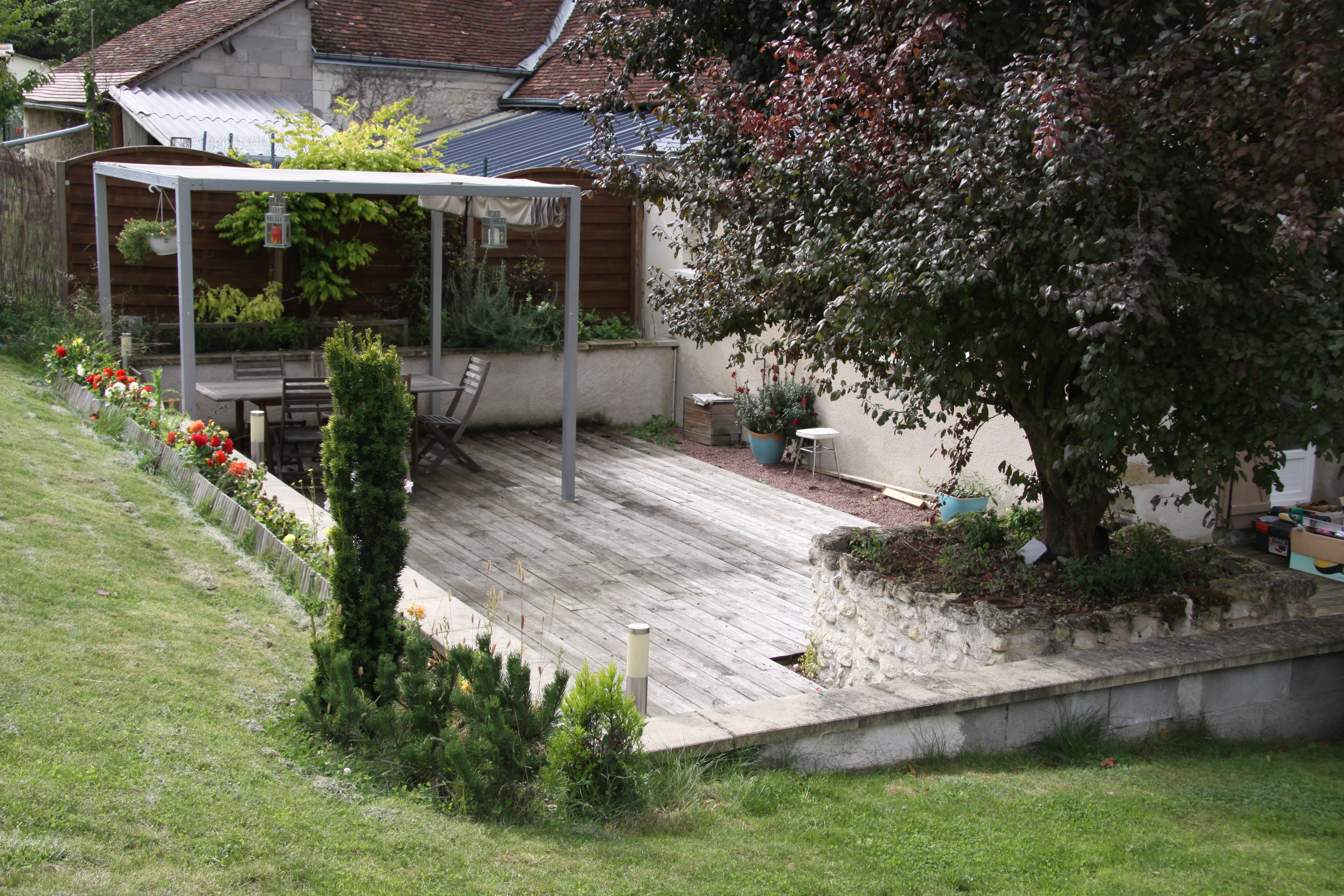 La terrasse location gite touraine indre et loire - Coin terrasse jardin argenteuil ...